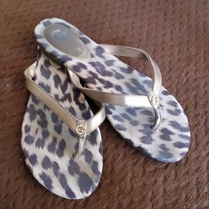 GuC, G by Guess cheetah print bling logo sandals